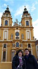 Gayle and Mary at the Melk Abbey Viking River Cruise