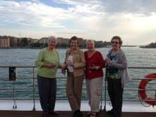 Lois, Geri, Darlene and Jan on their Italian Uniworld River Cruise!