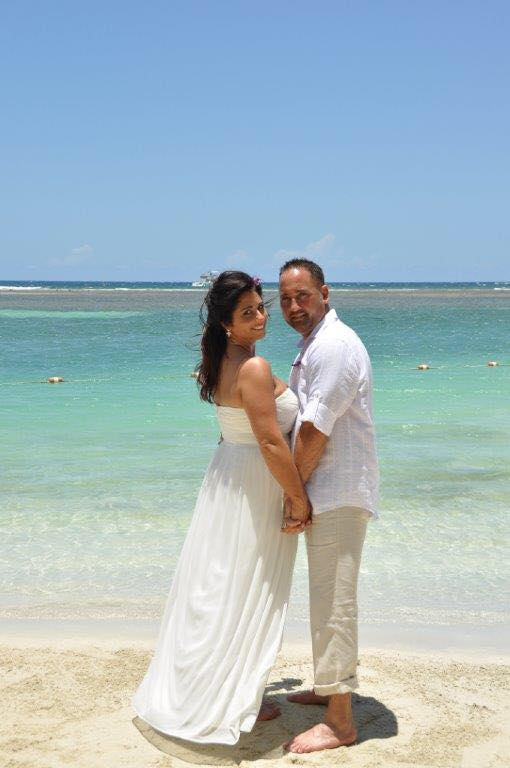 Theresa and Chris Wright after wedding at Sandals Royal Caribbean in Jamaica