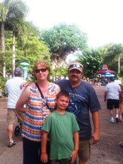 Becky, Steve and James enjoy their Disney Vacation!