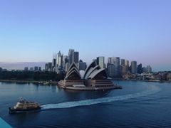 Beautiful view of Sydney Harbour