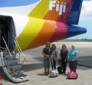 Our flights in Fiji