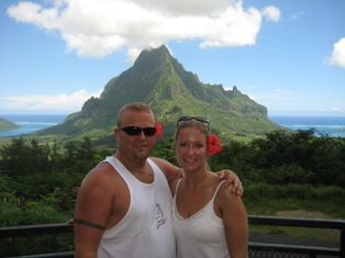 Gennell and Ben Honeymooning in Tahiti
