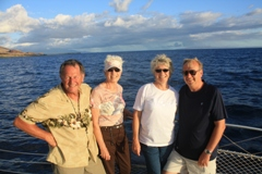 Marilyn and Richard Okon and Sally and Theodore Elenberger on Sunset Cruise in Maui