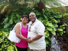 John and Evelyn at the Sheraton Maui