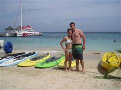 The resort had special meaning for our honeymoon couple.  So glad they took advantage of all Sandals offers!