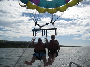 Parasailing Fun in Jamaica at Iberostar Grand