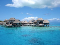 The Overwater Bungalows that Kardashians stayed at