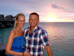 Carrie and Jay Ewald enjoy Bora Bora!
