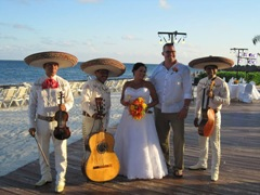 Leah and Bart are married at Dreams Riviera Cancun
