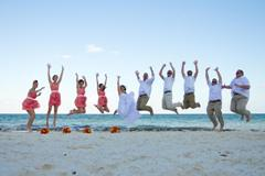 Jump for joy at this wedding!