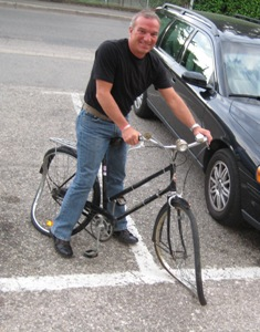 Keith loves these crazy bikes left all over Europe!