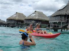 Hilton Moorea has the best snorkeling by their bungalows