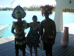 Gayle made a few new friends in Bora Bora!