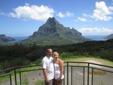 Brian and Amber sightseeing in Moorea