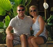 Craig and Trisha at the Hiltons in Bora Bora and Moorea