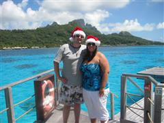 Kurt and Jennifer in Bora Bora at the Le Moana honeymooning!