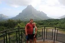 Ryan and Natalie sightseeing in Bora Bora!
