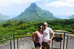 Sarah and Lee Woodworth at the Intercontinental Moorea loved  their overwater bungalow!