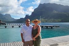 Diane and Eddie in Tahiti