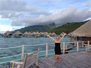 Kristi is loving her overwater bungalow!