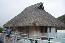 Ryan and Natalie loved their overwater bungalow!