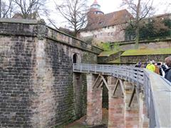 Enterting the Imperial Castle in Nuremburg Germany on Viking River Cruise