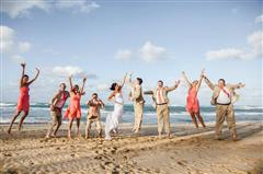 Jump for Ryan and Jenna Lilly Wedding at Excellence Punta Cana!