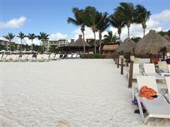 The Beach at the Dreams Riviera Cancun is beautiful and large