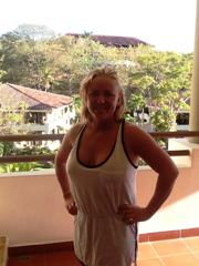 Jolene was having a great time in Costa Rica.  Lynn Ewerdt did a great job!