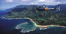 Take a helicopter trip in Kauai!  Best island for waterfalls and views!