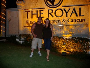 Ashley and Steve Johnson at the Royale