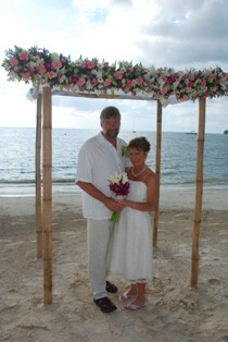 Rick and Lori Berndsen got married at Sandals Negril