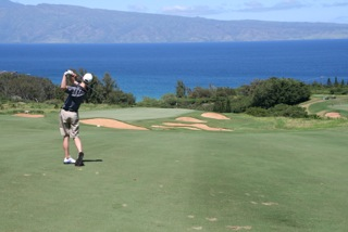 The Larson family was golfing while staying at The Kapalua Villas in Maui!