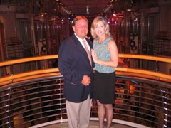 Ted and Kathleen enjoy their RCCL Cruise