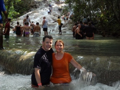 Connie and Chas at the Dunns River Falls