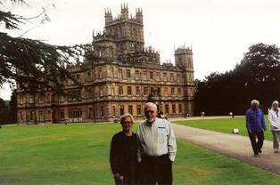 Keith and Kathy at the Downton Abbey tour before their Hurtigruten Norwegian Coastal Cruise