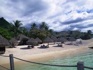 Sofitel Moorea has the largest beach