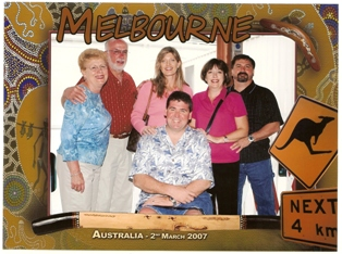 Australia and New Zealand fun for  Cookie and Bob Brock, Tammy and Geoff Luther, Gayle and Gary Zielke