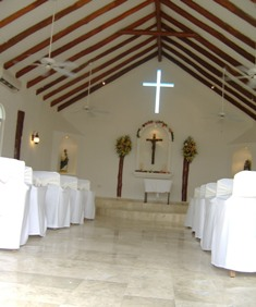 A wedding chapel is available at a few locations.