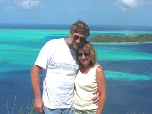 Rick and Lori Berndsen in Bora Bora