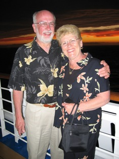 Cookie and Bob Brock on a cruise in Australia and New Zealand