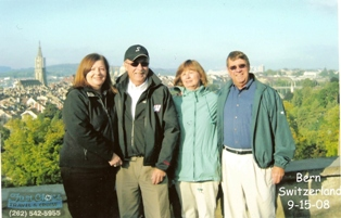 Barbara and Dan Sedlock with Buck and Carol Houston on a Globus tour ...The Best of Austria and Switzerland.