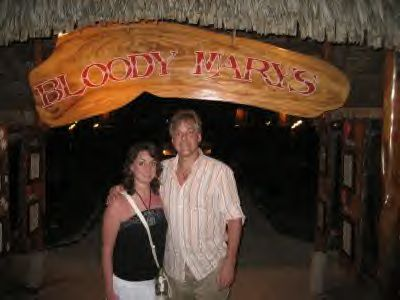 A trip to Bora Bora is not complete without a visit to Bloody Mary's!