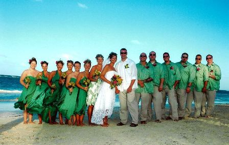 An amazing wedding group in Punta Cana!
