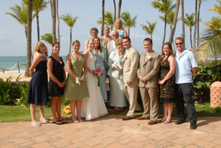The whole group enjoyed the wedding!