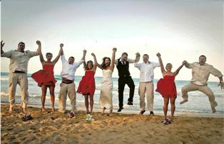 Jump for joy after this Excellent wedding ceremony!