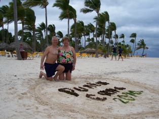 Tom and Jennifer Witt celebrate their anniversary in Punta Cana!