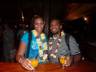 Tameka and Jerald enjoy their stay in Tahiti!
