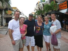 Tom Bertz and gang in the Riviera Maya